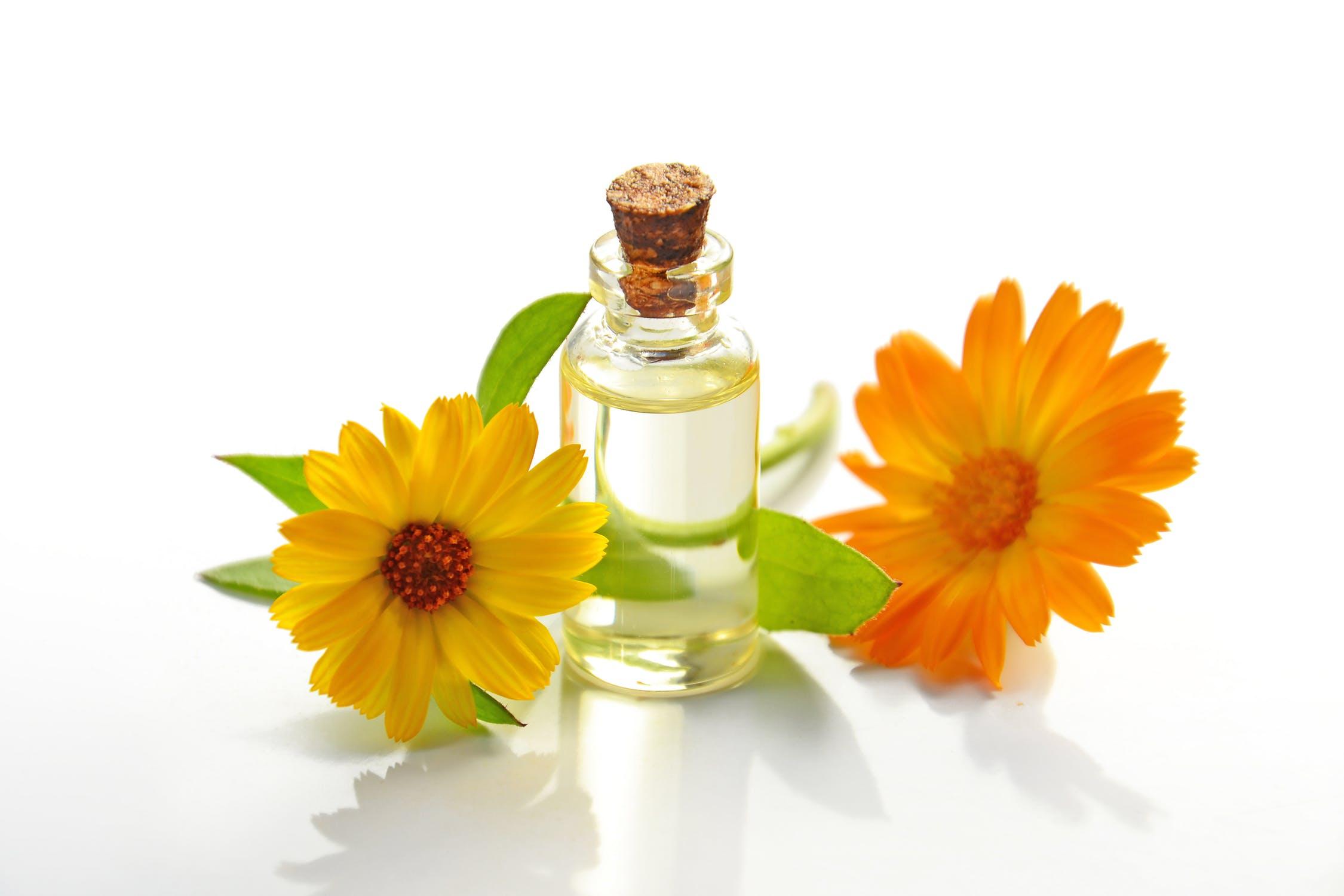 Bergamot Oil and flowers